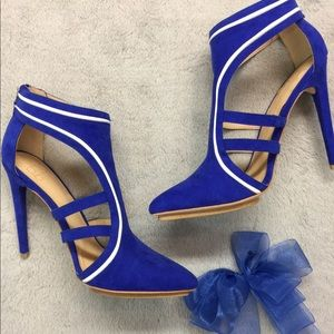 Bright Electric Blue Heels